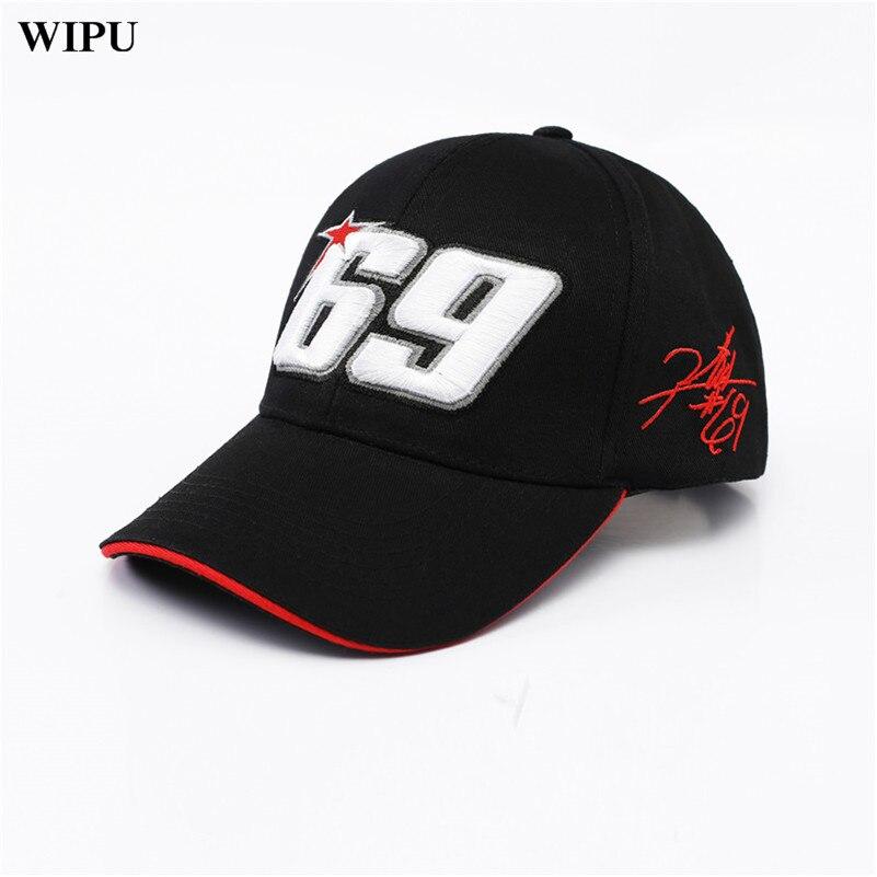 WIPU 2018 NEW Sport   Cap   Car Motocycle Racing hat MOTO GP Nick Heidfeld 69   Baseball     Cap   Hats Men Gorra Racing