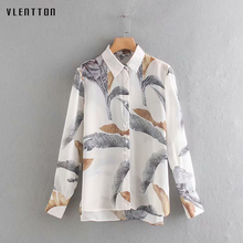 2019 Chiffon Shirt Blouse Women Long Sleeve Print Office Ladies Blouses Turn Down Collar Casual White Shirts Tops Blusas Mujer sexy striped print women shirts long sleeve turn down collar office ladies shirt fashion casual tops and blouses tunic tops 2019