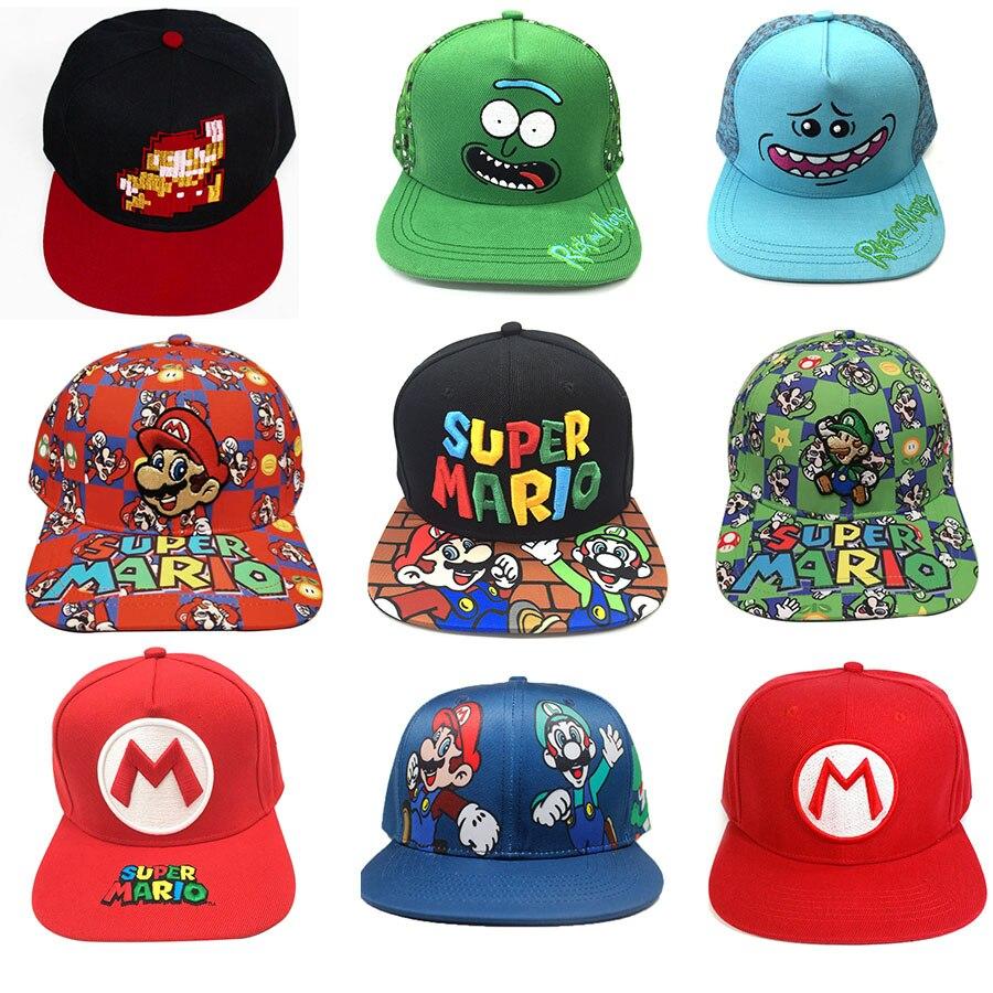 Hats Toys Figure Morty Birthday-Gifts Rick Anime Cosplay Girls Adult Mario Boys Super-Mario-Bros