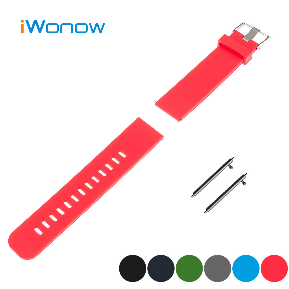 Silicone Rubber Quick Release Watch Band 17mm 18mm 19mm 20mm for DW Daniel Wellington Pin Buckle Strap Wrist Belt Bracelet