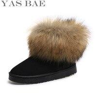 2016 Sklep Tanie Australia Gorąca Sprzedaż Śliczne Zimowe damska Czuł Włosów płaskie Botki Snow Boots z Faux Fur Poza dla Kobiety femininas
