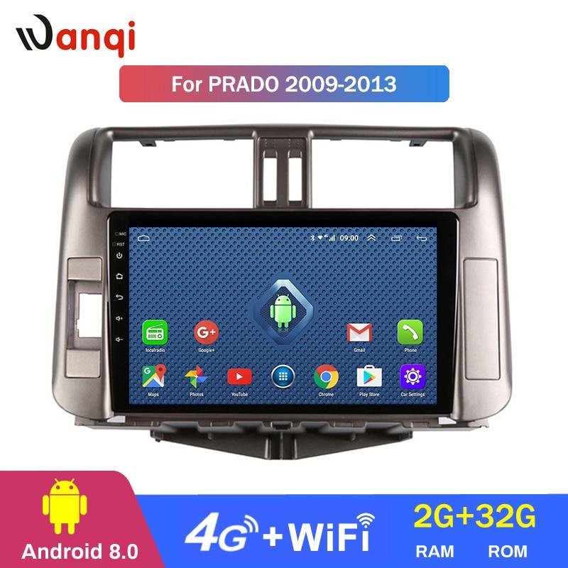 4G Lte Tutto Netcom Auto Radio Lettore Multimediale Android 8.0 Video di Navigazione GPS Per Toyota LAND CRUISER PRADO J150 2009-2013