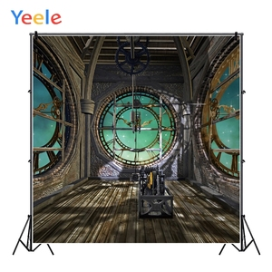 Yeele Clock Tower Interior Gear Technological Sense Photography Backgrounds Customized Photographic Backdrops for Photo Studio