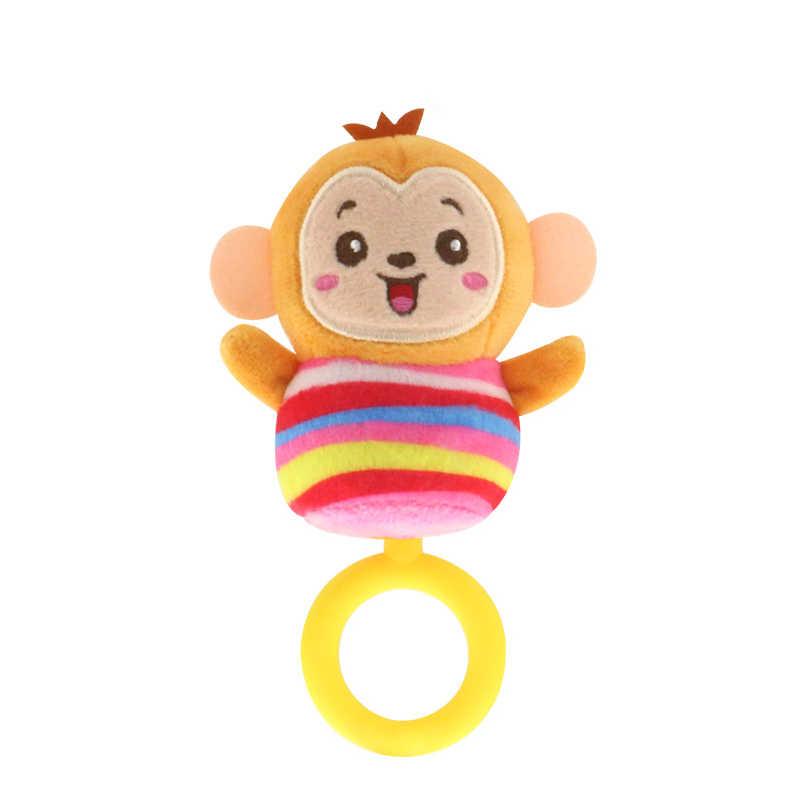 ベビー幼児新生児ぬいぐるみガラガラのおもちゃの手の把握おしゃぶりかわいい動物ぬいぐるみハンドベルリング早期教育少年少女ギフト