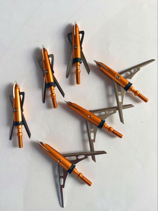 100 Grain Broad Heads Archery Arrow Tips Crossbow Bolt Broadheads 3-18 Pcs New