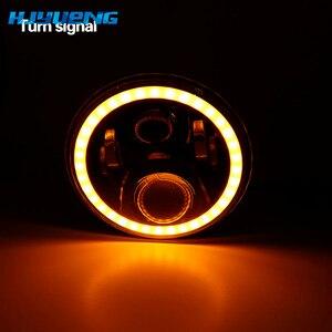 """Image 3 - 7 pouces lampe frontale à LED avec anneau Halo clignotant ambre pour lada niva 4x4 suzuki samouraï 7 """"LED DRL Halo phares pour VAZ 2101"""