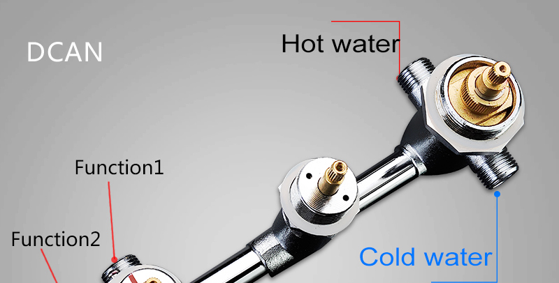 DCAN Bathroom Thermostatic Mixer Valve Brass Chrome Finish Shower Faucet Mixer Valve 3-4 Ways Faucet Bath Faucet Accessories (14)