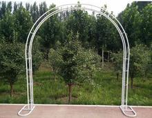 Arch frame iron art removable galvanized door wedding opening cherry arch flower climbing