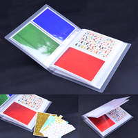 Transparent Nail Sticker Water Decal Collecting Albums Translucent Storage Holder Nail Display Book 20 Pages/book 5pcs/lot