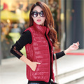Casual 10 Colors Plus Size L-XXXL Women Vest Winter Autumn Slim Short Waistcoat Down Vest Outerwear Gilet Casacos Feminino J72