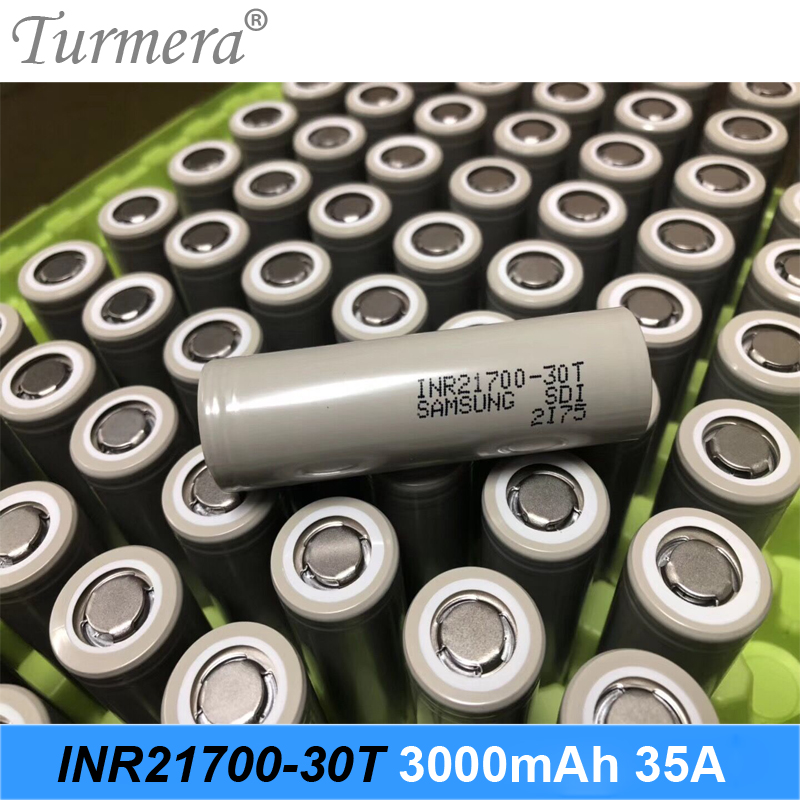 original 21700 battery 3000mah INR21700-30T 35a battery for Samsung fit for electric cigarette and screwdriver battery Turmera