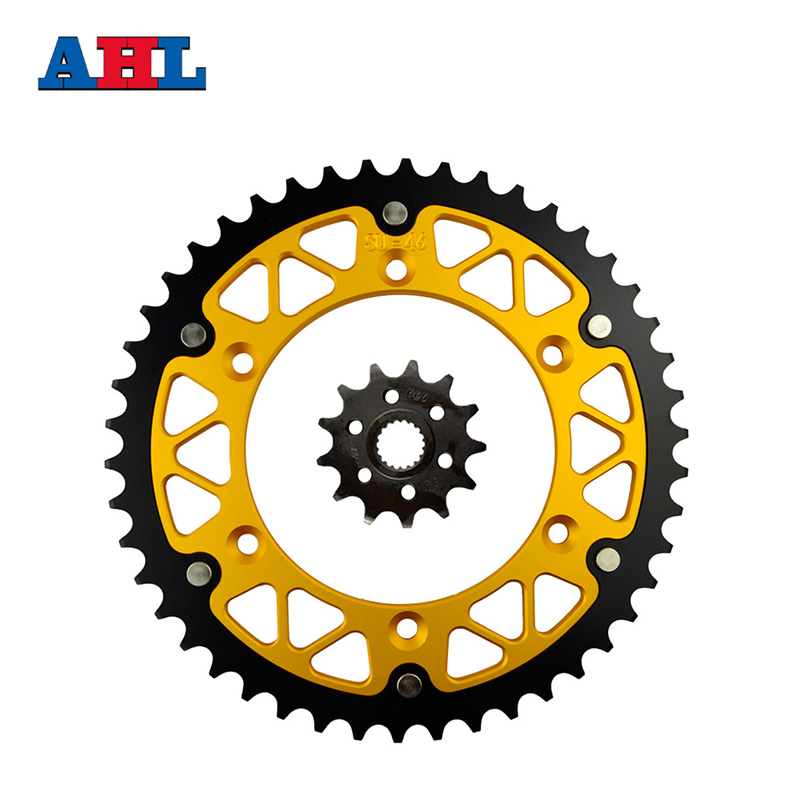 Motorcycle Parts 46-13 T Front & Rear Sprockets Kit For SUZUKI RM-Z250 RM-Z 250 RMZ250 RMZ 250 2007-2012 Gear Fit 520 Chain