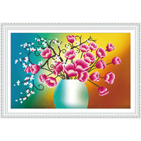 DIY Diamond Embroidery Flower 5D Diamond Painting Cross Stitch 3D Diamond Mosaic Needlework Crafts Christmas Gift