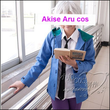 Hot Selling Cartoon Mirai Nikki COS Akise Aru Cosplay Fleece Hoody Costumes for Men/Women Coat+Shirt+Pants+Tie