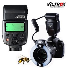 Viltrox JY 670 DSLR foto de cámara LED Macro anillo Lite luz Flash para Speedlite para Canon Nikon Pentax Olympus DSLR