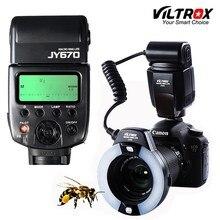 Viltrox JY 670 DSLR zdjęcie z kamery LED makro pierścień Lite lampa błyskowa Speedlite do Canon Nikon Pentax Olympus DSLR