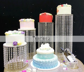 New crystal cake holder  Birthday Home Decoration Crystal transparent acrylic cake stand wedding Table Centerpiece decoration