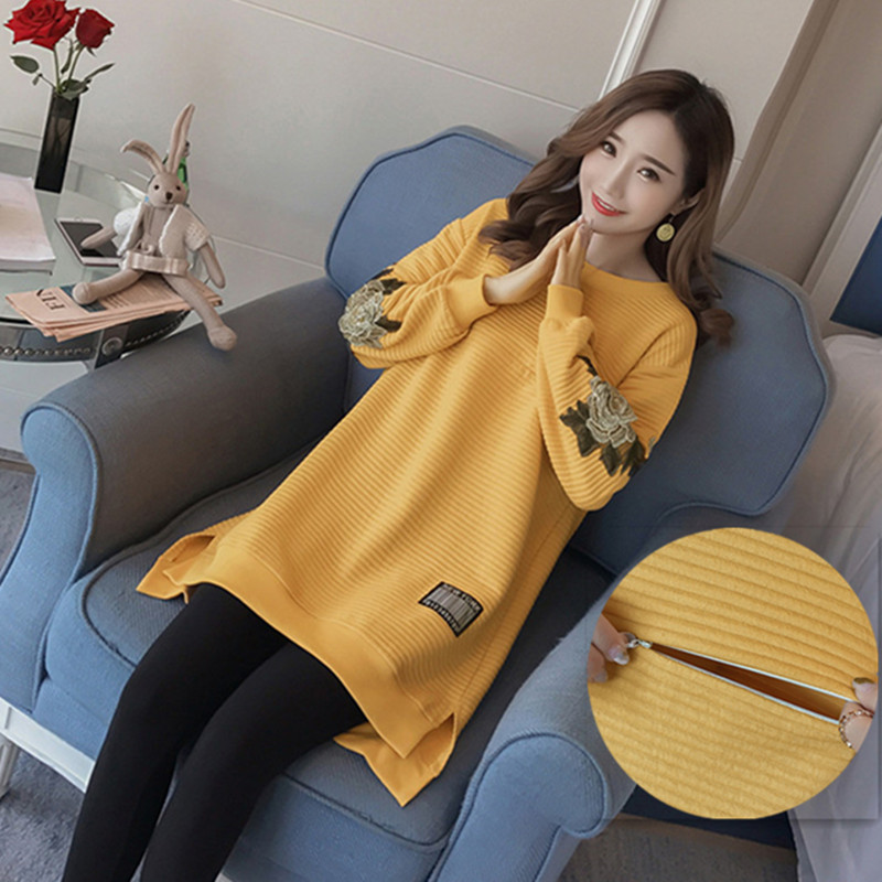 Maternity Clothes Nursing Tops Winter Clothes For Pregnant Women Autumn Hoodies Sweatshirts Breastfeeding Pregnancy Clothing