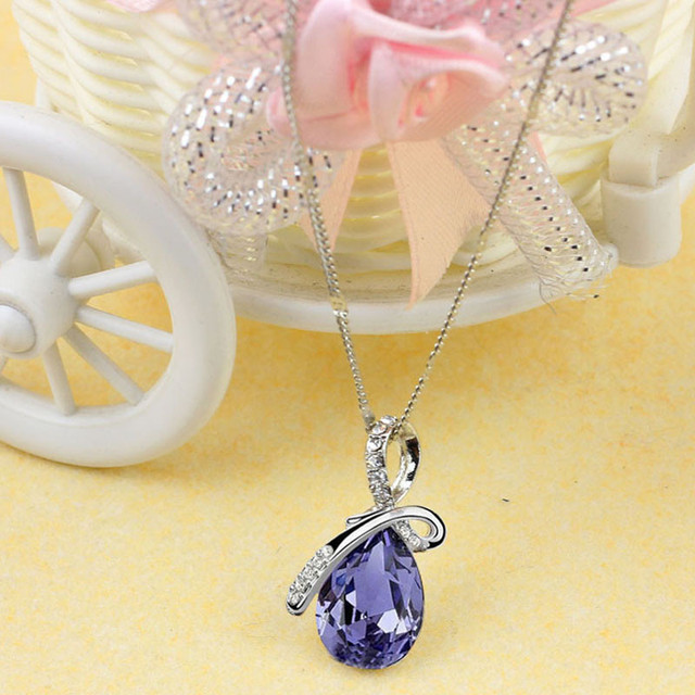 2017 Fashion Casual Lady Rhinestone Chain Crystal Necklace New Pendant Necklace