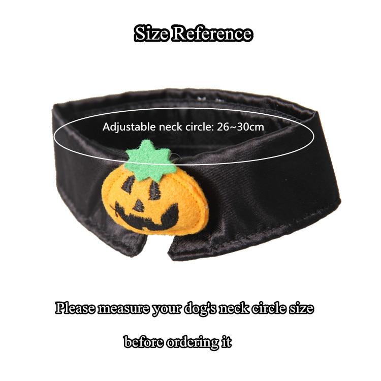 1pc Halloween Mischief Cat Small Dogs Necktie Collar Black Tie Pumpkin Bow-tie For Cat Pet Beauty Supplies #6