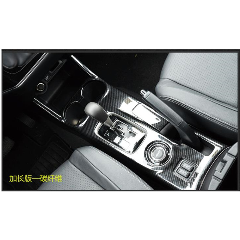High quality full cover gear panel ABS Chrome trim 1pcs for 2013 2014 2015 2016 Mitsubishi Outlander Left hand drive,Car-Styling jgrt chrome rear window wiper cover trim for 2013 2014 2015 frod escape kuga new high quality chrome stickers trim car styling c