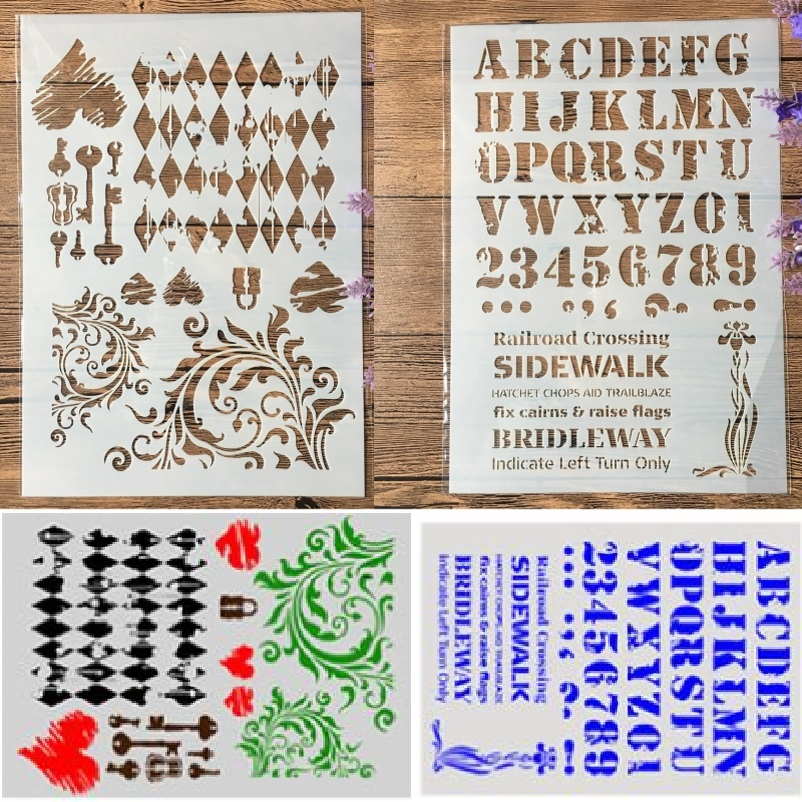 Craft Layering Alphabet Letter Stencils Painting Scrapbooking Album Paper Craft