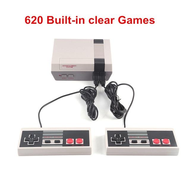 HST-838 Портативный игры игроки Семья ТВ игровой консоли детства встроенный 620 игр n/p Мини 8 бит игровой консоли