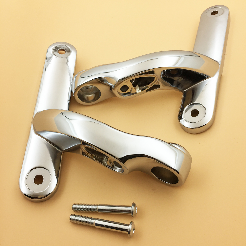 Chrome Auxiliary Lighting Brackets Kits For Harley Touring Street Glide Road King FLHX FLHR 1996 2018