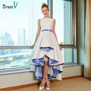 Image 1 - Dressv элегантное асимметричное свадебное платье размера плюс с круглым вырезом на молнии и шнуровкой длиной до пола свадебное платье для свадьбы