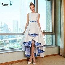 Vestido de noiva assimétrico elegante, vestido de casamento tamanho grande gola escova zíper de renda comprimento até o chão para noiva vestido de casamento & igreja