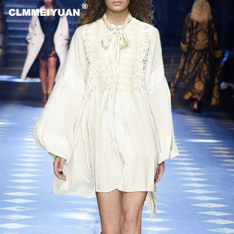 bd7c440d84076 Blanc 2019 Robes Longue De Plage Piste D été Dress Shirt White Robe Élégant  Mode Causal Manches Femmes Chemise ...
