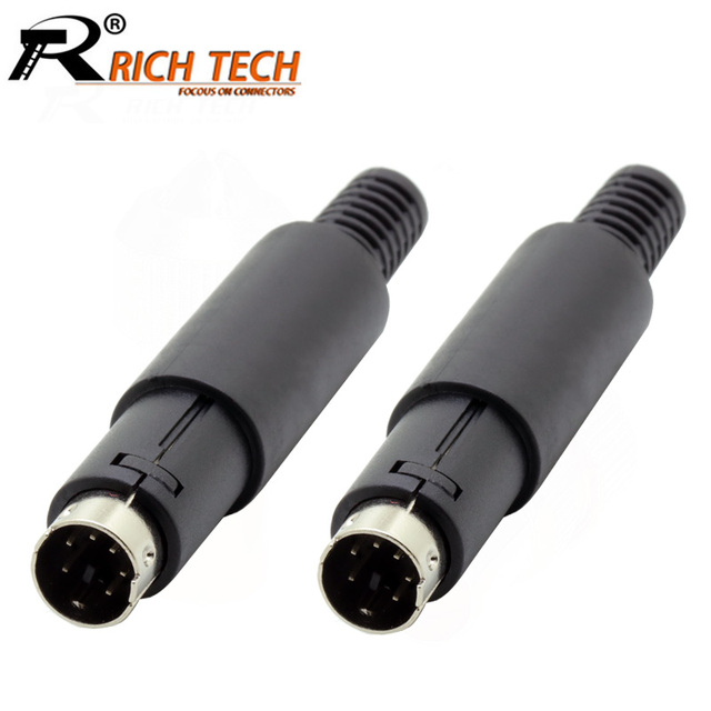 10pcslot 6 pin mini din male plug wire connector w plastic handle 10pcslot 6 pin mini din male plug wire connector w plastic handle mini publicscrutiny Images