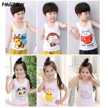 3pc/ lot Children Tanks girls Camisoles boy Underwears kids Cotton Waistcoats Vests 2 to 8 yrs Clothing Sleeveless T-Shirts