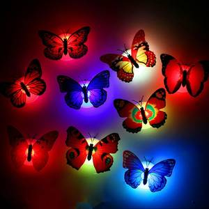 Lamp Wall-Nightlights Color-Changing-Light Home-Decorative Beautiful Butterfly Lovely