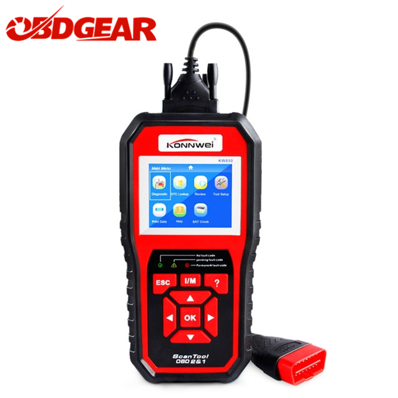 2018 Best OBD 2 Autoscanner OBD2 Scanner KONNWEI KW850 Full ODB2 Scanner Supports Multi-languages ODB 2 Automotive Scanner
