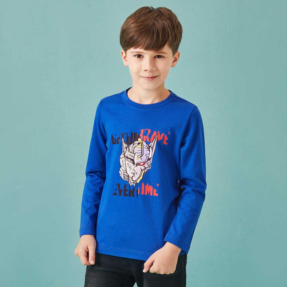 Balabala/Осенняя детская футболка хлопковая детская одежда с длинными рукавами пуловер для мальчиков топы в клетку футболка для мальчиков Милая футболка