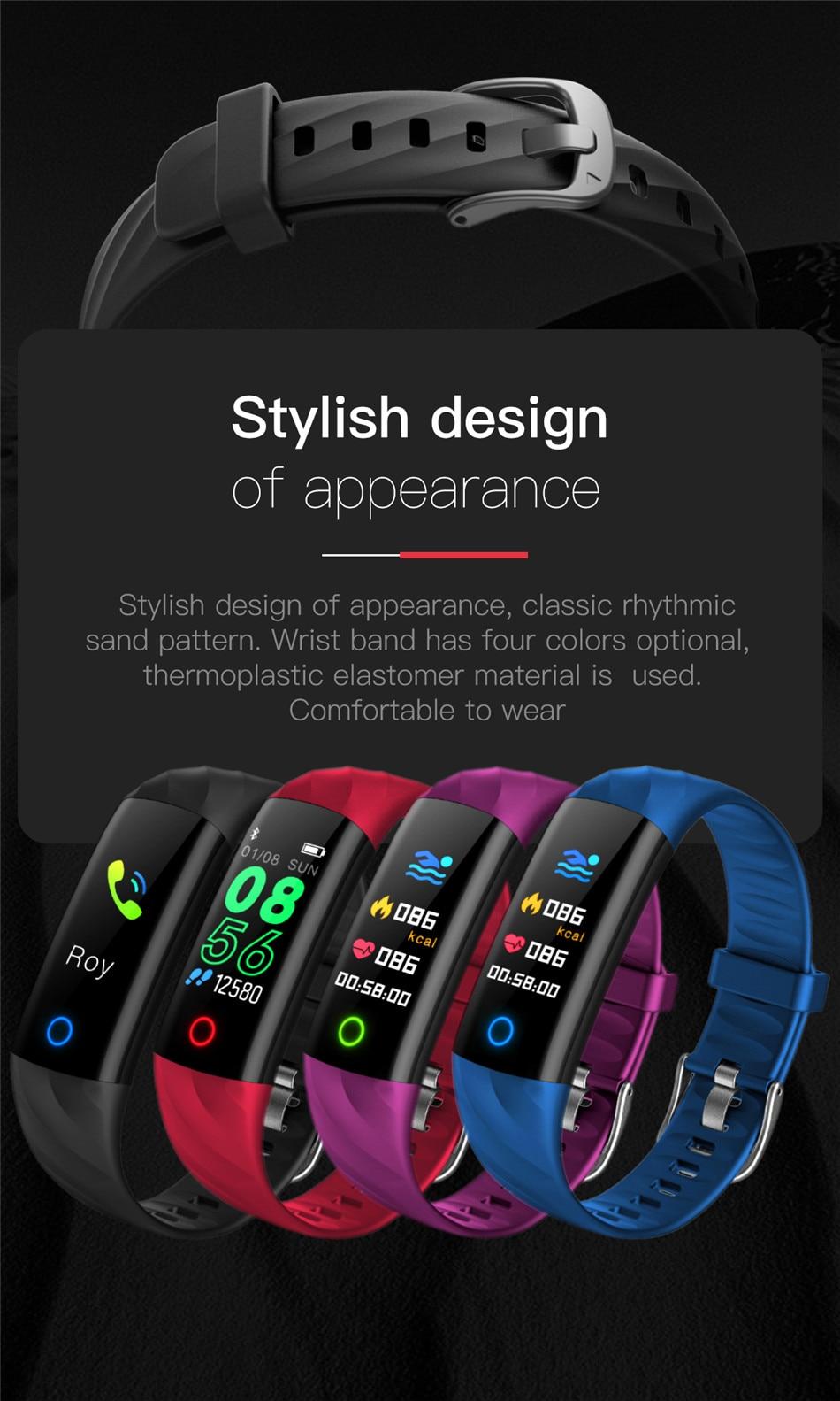 HTB1qp0DXdzvK1RkSnfoq6zMwVXav LIGE Smart Watch Women IP68 Waterproof Sport Bracelet Smart Fitness Tracker Blood Pressure Heart Rate Monitor intelligent Watch