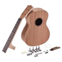 Concert Ukelele Ukulele Hawaii Guitar DIY Kit Sapele Wood Body Rosewood Fingerboard with Pegs String Bridge Nut 2 Sizes