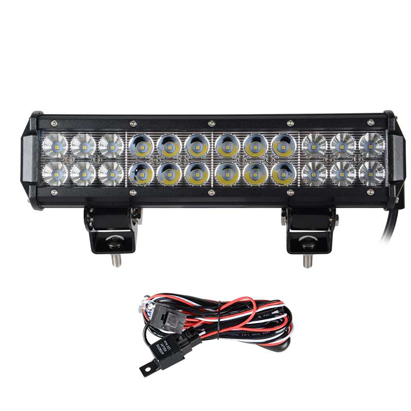 Tractor Safety Led Lights : Quot inch w led work light bar for offroad tractor boat