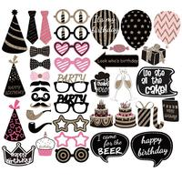 41pcs Party Photo Booth Props Wedding Photo Booth Props Mustache Birthday Party Favors Mustache Lips Photobooth