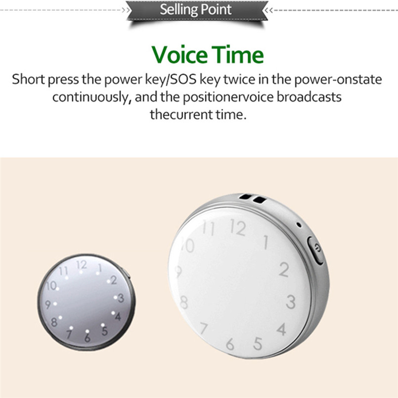 Mini Child GPS Tracker Pocket Watch A12 Adults Older Pocket Locator Clock Tracking Device SOS Alarm Voice Monitor 40MAY1523_副本