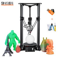 Delta 3D Printer Pulley Version Linear Guide DIY Kit Kossel 3D Aluminum Frame Printer DIY Kit Smart Leveling Automatic Feeding