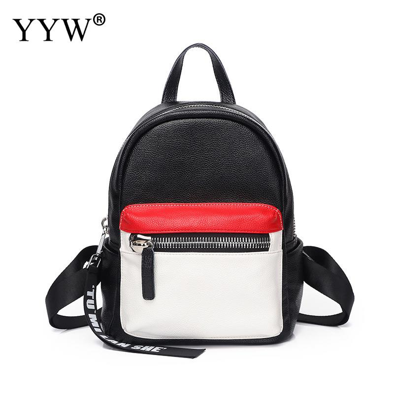 2018 Women Brand Pu Leather Backpack Black Female Fashion Vintage Mini School Bag For Adolescent Girl