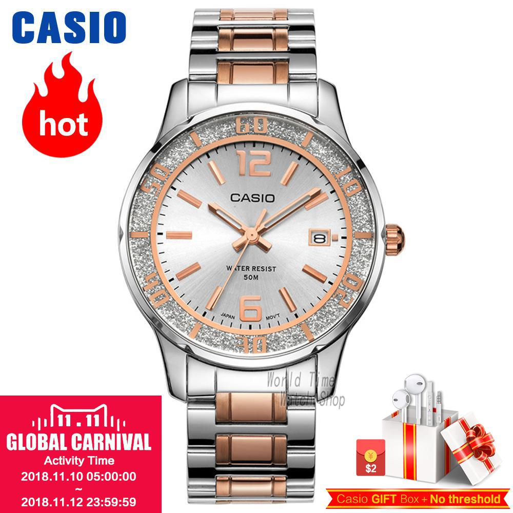 Casio watch Fashion Casual Quartz Needle Steel Watch LTP-1359RG-7A LTP-1359SG-7A casio ltp e118d 7a
