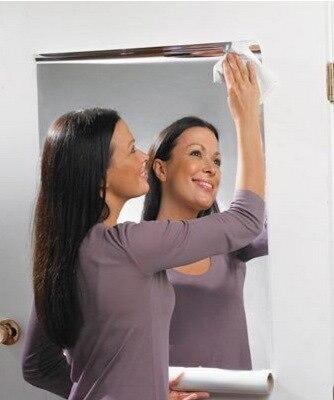 2018 Marque Nouvelle argent PVC réfléchissant miroir film 60x100 cm 16.8x39 Chrome Décoratif Tuiles Rouleau Miroir décoratif Stickers Muraux