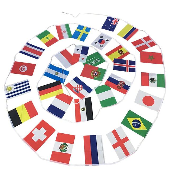 football game banner string flag 2018 21st russia football game