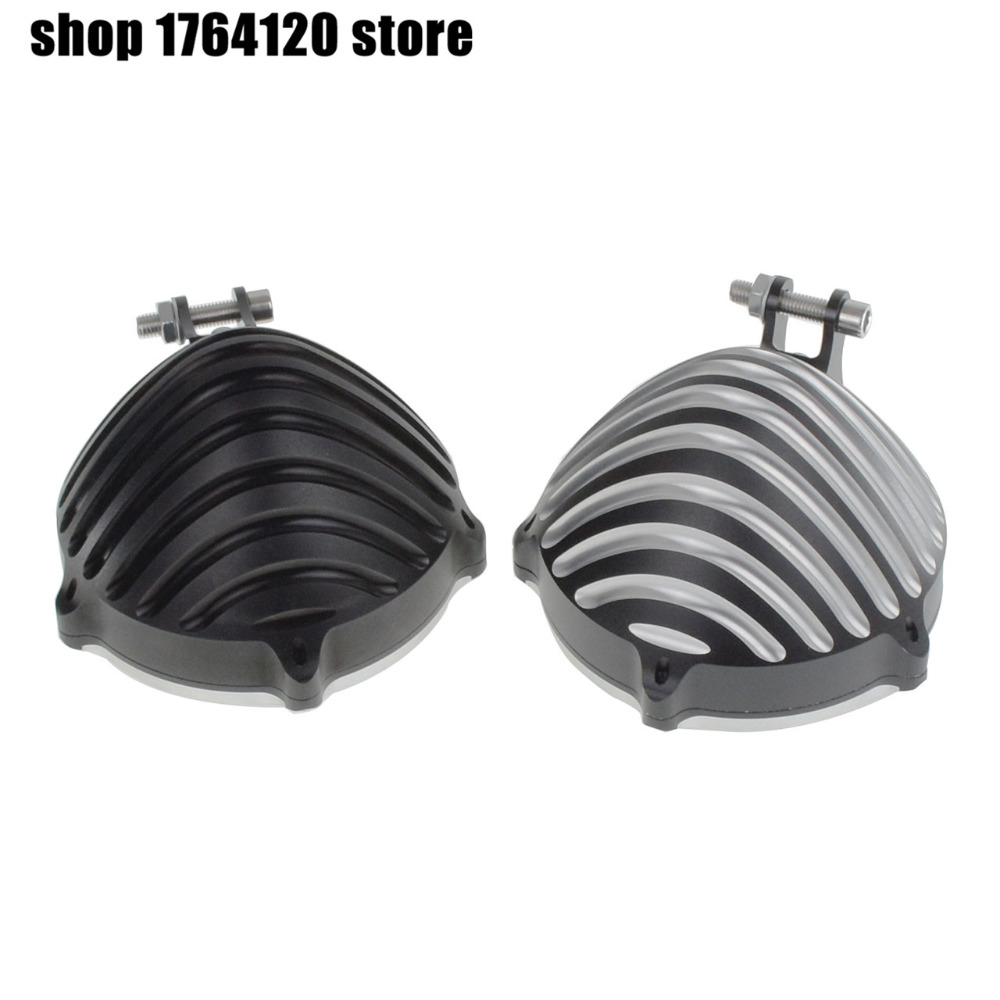 5 75 Motorcycle Headlight Cover With Bottom Mount Configuration Classic Style Black Black and Chrome For