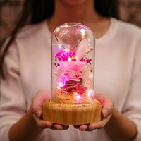 Creative Wishing Bottle Night Ligh Ambient Lamp Preserved Flower Christmas Gift Home Garden Decor