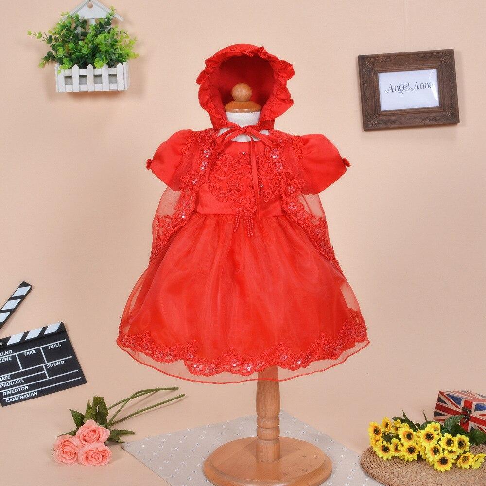 Elegant Chiffon Knotbow Birthday Baby Dress For One Year Old Kids Girls Vestidos Summer Baby Baptism Clothes SKF154703