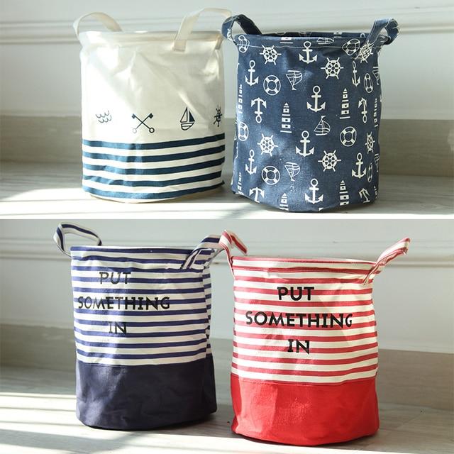 Fashion Creative Cloth Storage Box home storage organization basket organizer box Foldable bags Storage barrel Laundry basket